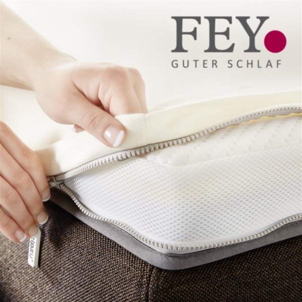 Zipzu System für Boxspringbett: Kaltschaum Topper + Bettlaken mit Reißverschluss / zip-Verschluss