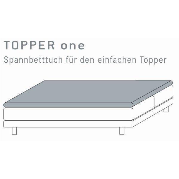 Topper Spannbettlaken 180 x 200 RESTPOSTEN  Kneer Vario-Stretch Q22 Spannbetttuch für Boxspringbett