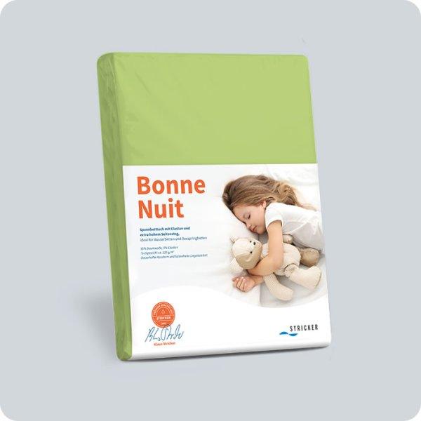 Bonne Nuit Spannbetttuch 100x200-120x220 cm Kiwi 366