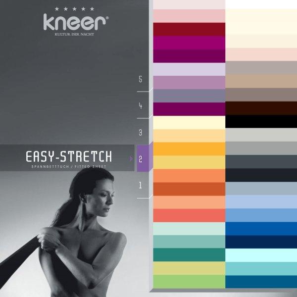 Spannbettlaken Kneer Q25 EASY STRETCH f. Matratzenhöhe bis 30 cm 44 Farben