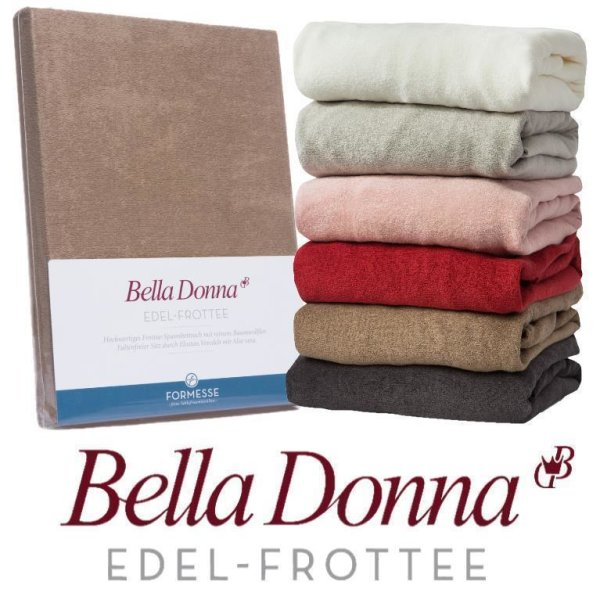 Bella Donna Edel Frottee Spannbettlaken 90/190 - 100/220 Spannbettuch Formesse