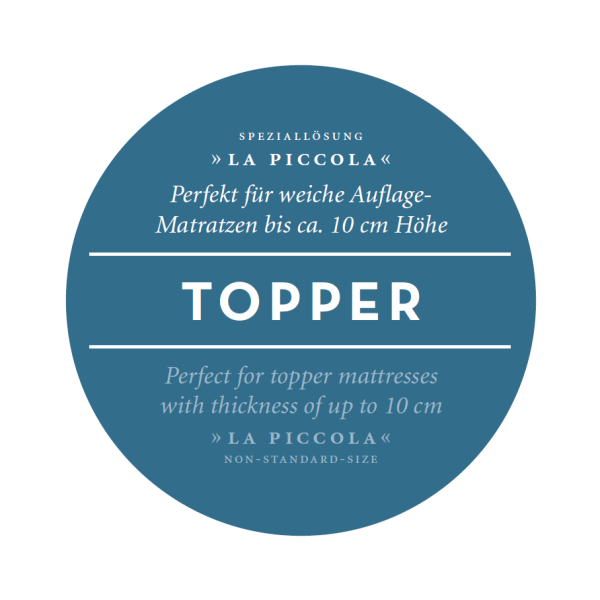 Spannbetttuch f. Topper Bella Gracia La Piccola Formesse Spannbettlaken