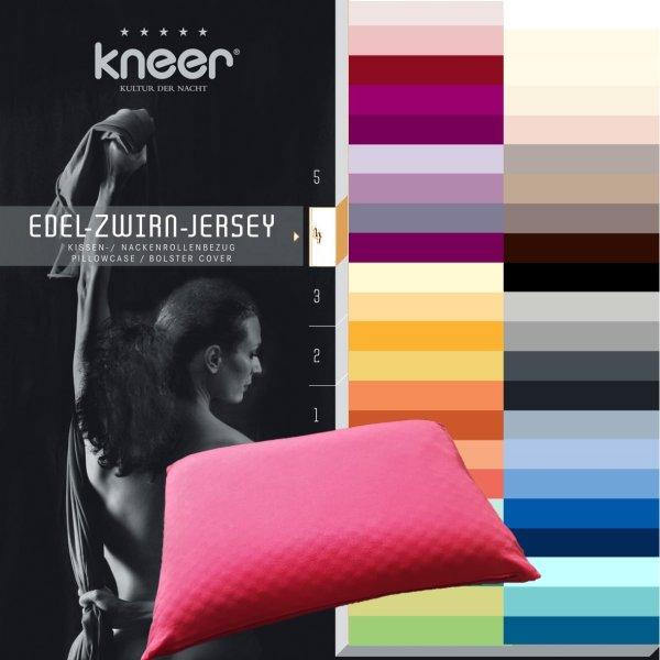Kissenbezug 40/80 cm Bezug für Tempur Kissen Comfort | Cloud | Sensation | Easyclean mit Markenreißverschluss Kneer Q20