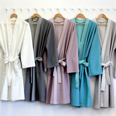 Bella Donna Mantel Damen Herren Morgenmantel unisex Tencel Formesse Sommer leicht kühlend Kimono Mantel S M L XL Bademantel