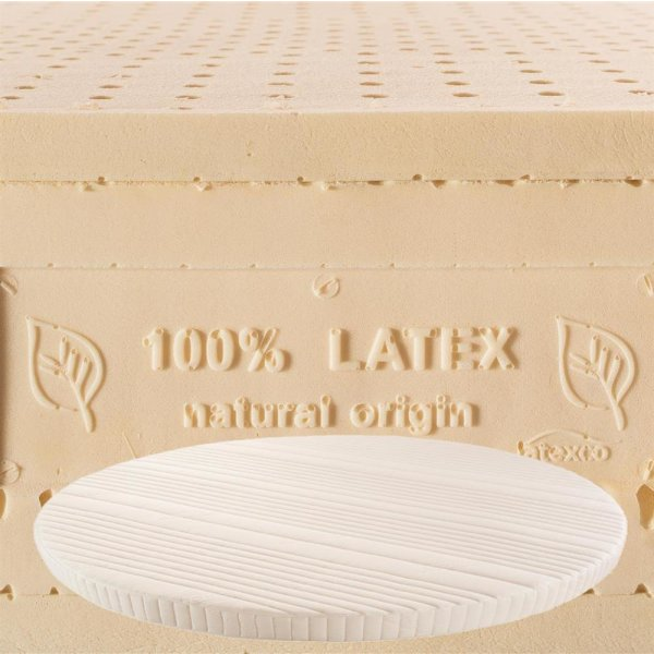 Topper f. runde Matratzen 100% Naturlatex 7 cm hoch Matratzenauflage DREAM Shogazi